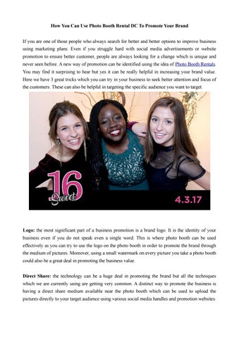 Best Photo Booth Rental near Me by Photo Booth Rent DC - issuu