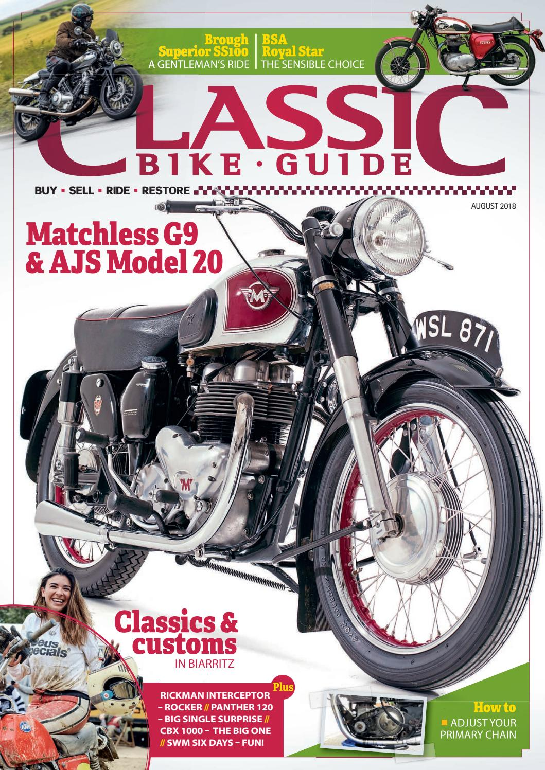 Classic Bike Guide - August 2018 - Issue 328 by Mortons Media Group Ltd -  issuu