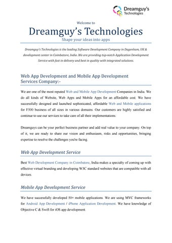 Feel the success of next generation Applications with