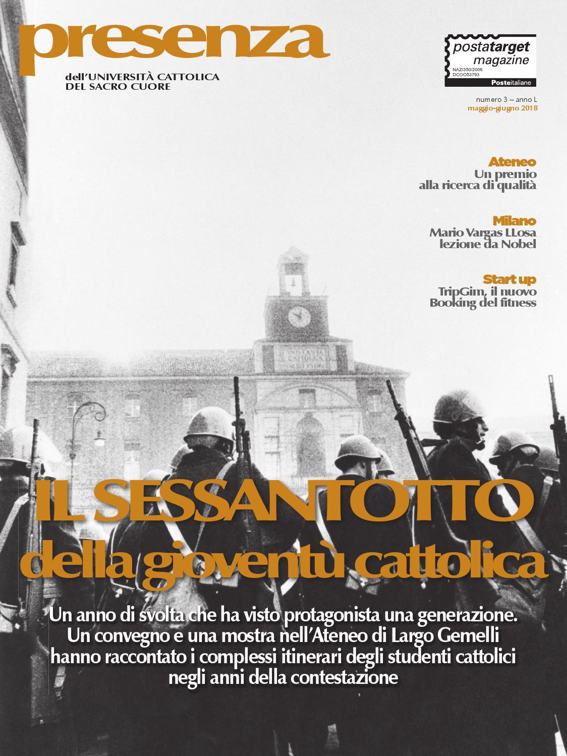 Calendario Lezioni Unicatt.Presenza 03 2018 Il Sessantotto Della Gioventu Cattolica By