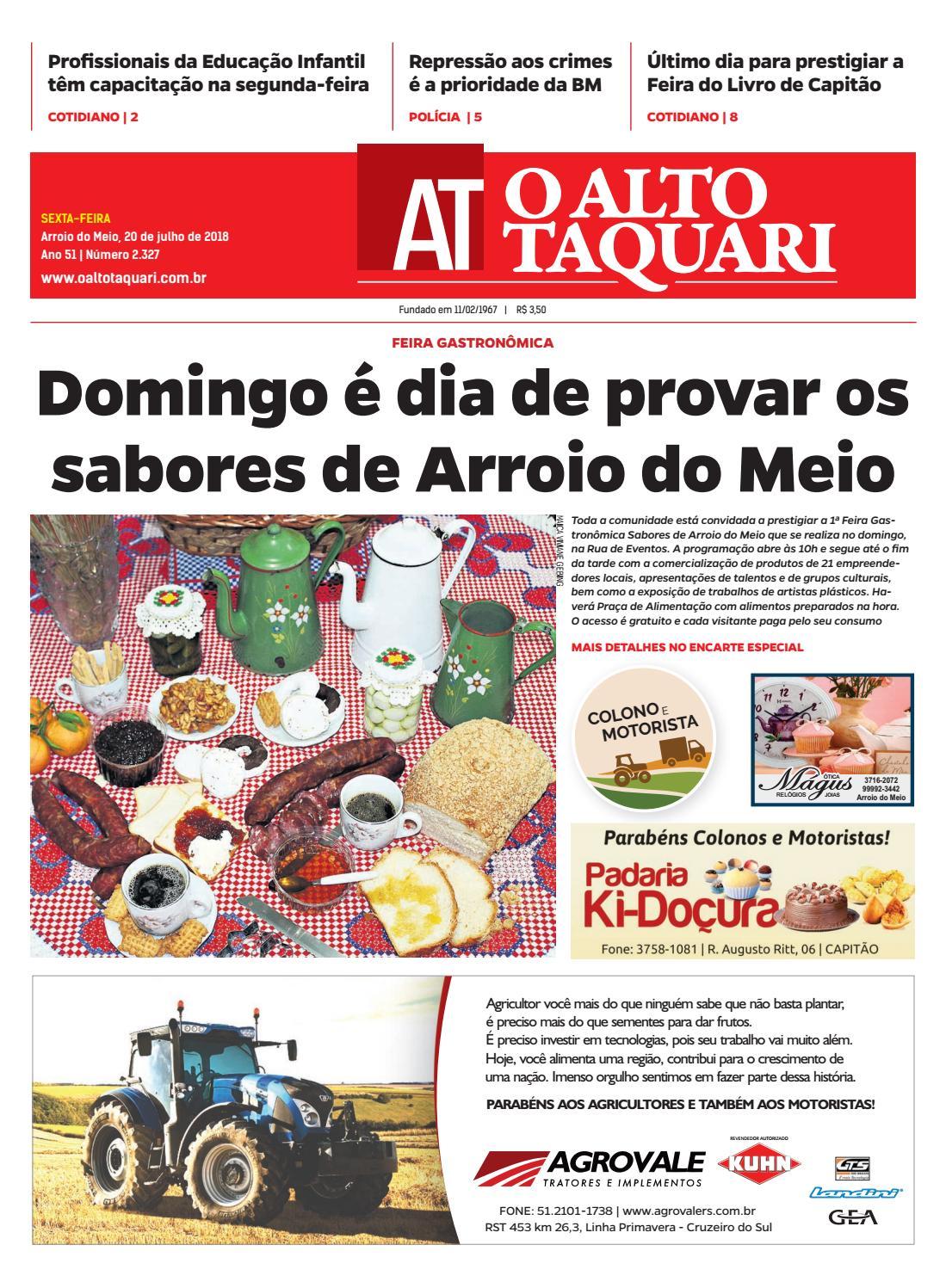 Jornal O Alto Taquari - 20 de julho de 2018 by Jornal O Alto Taquari - issuu b0d16175f5381