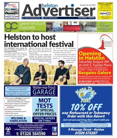Helston Advertiser - July 24th 2018 by Helston Advertiser - issuu