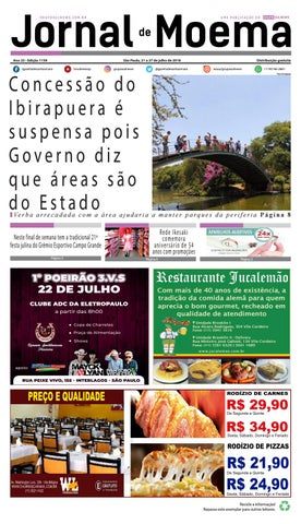 ebd0bb6cd JORNAL DE MOEMA - Edição 1159 - São Paulo, 21 a 27 de julho de 2018 ...