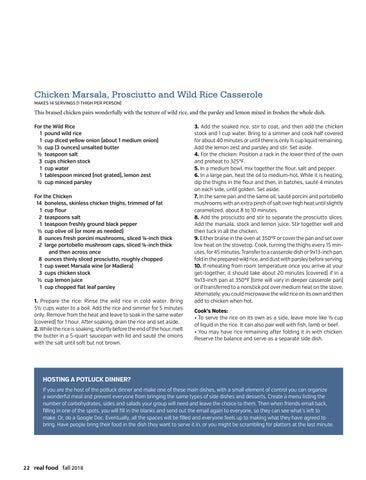 Page 24 of Chicken Marsala, Prosciutto and Wild Rice Casserole