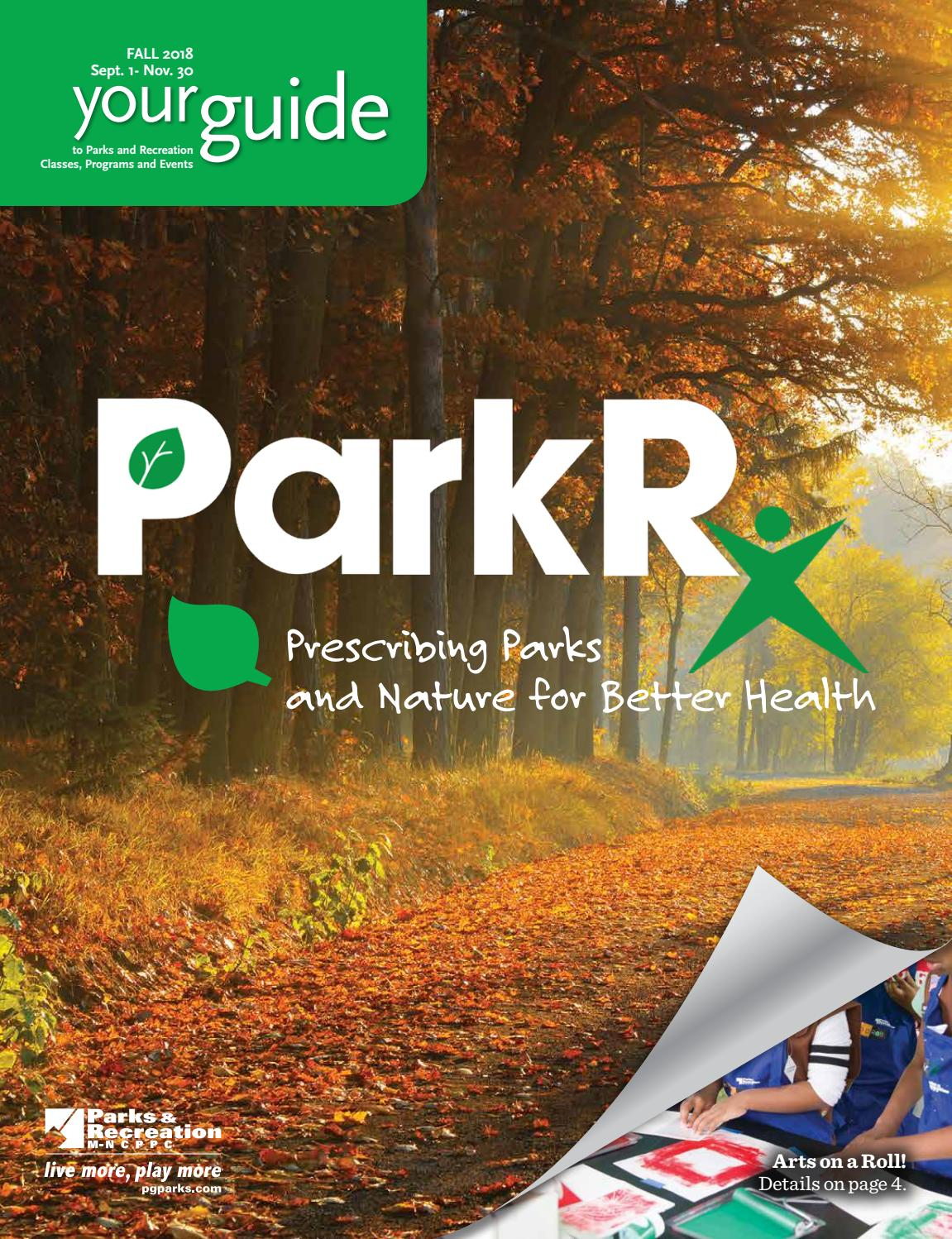 2018 Fall Guide by M-NCPPC, Department of Parks & Recreation, Prince  George's County - issuu