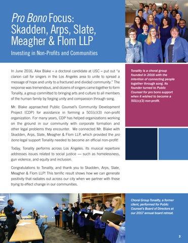 Page 5 of Pro Bono Focus: Skadden, Arps, Slate, Meagher & Flom