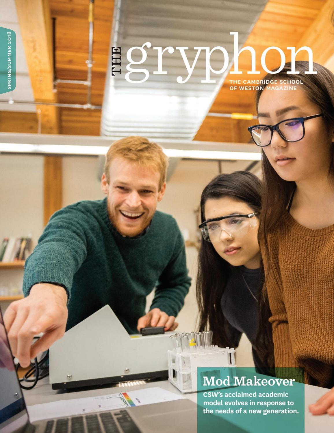 92772b289a The Gryphon  Spring Summer 2018 by The Cambridge School of Weston (CSW) -  issuu