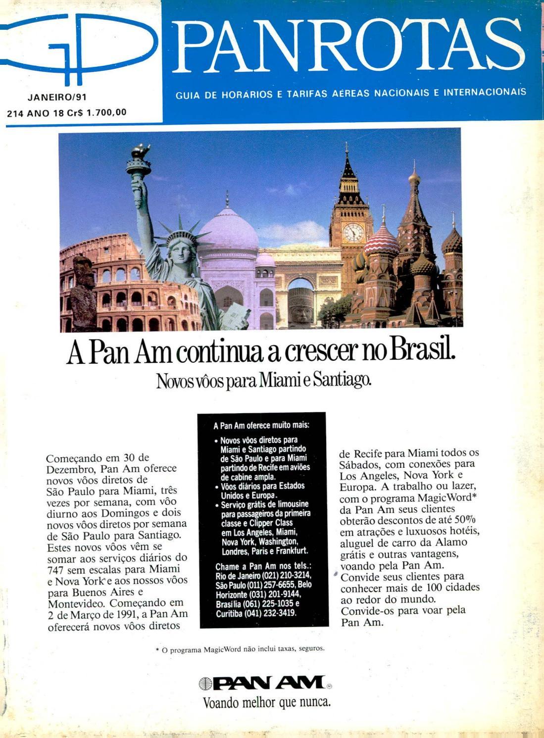 Guia PANROTAS - Edição 214 - Janeiro 1991 by PANROTAS Editora - issuu 8a54d8d8cb
