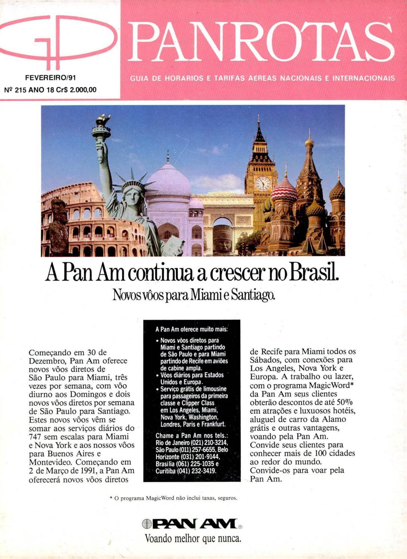Guia PANROTAS - Edição 215 - Fevereiro 1991 by PANROTAS Editora - issuu eb670ff8fa