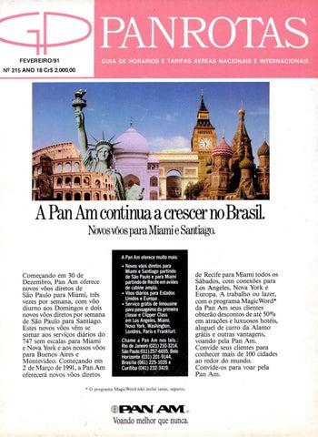 Guia PANROTAS - Edição 215 - Fevereiro 1991 by PANROTAS Editora - issuu f590f2a1719