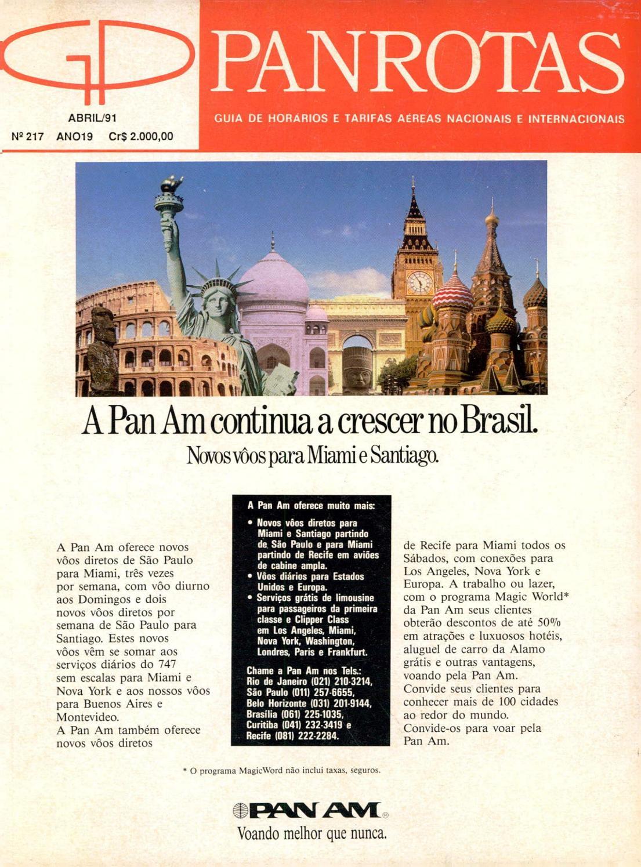 6cc27a66119 Guia PANROTAS - Edição 217 - Abril 1991 by PANROTAS Editora - issuu