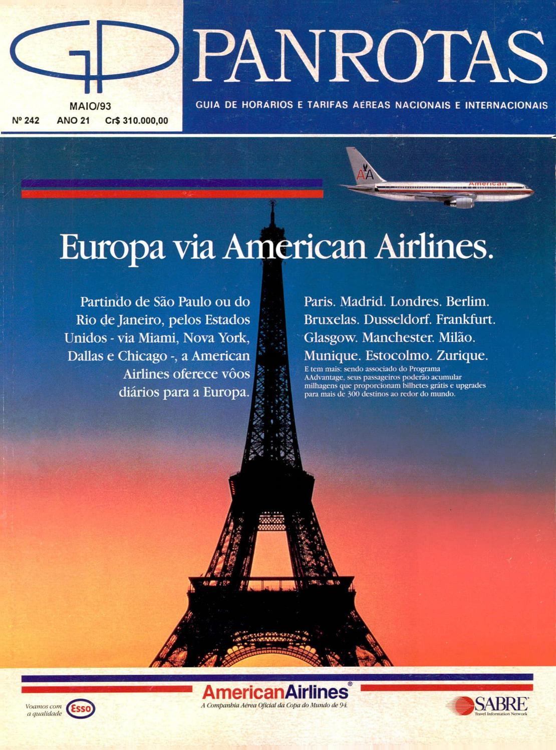 Guia PANROTAS - Edição 242 - Maio 1993 by PANROTAS Editora - issuu 93950e3e747