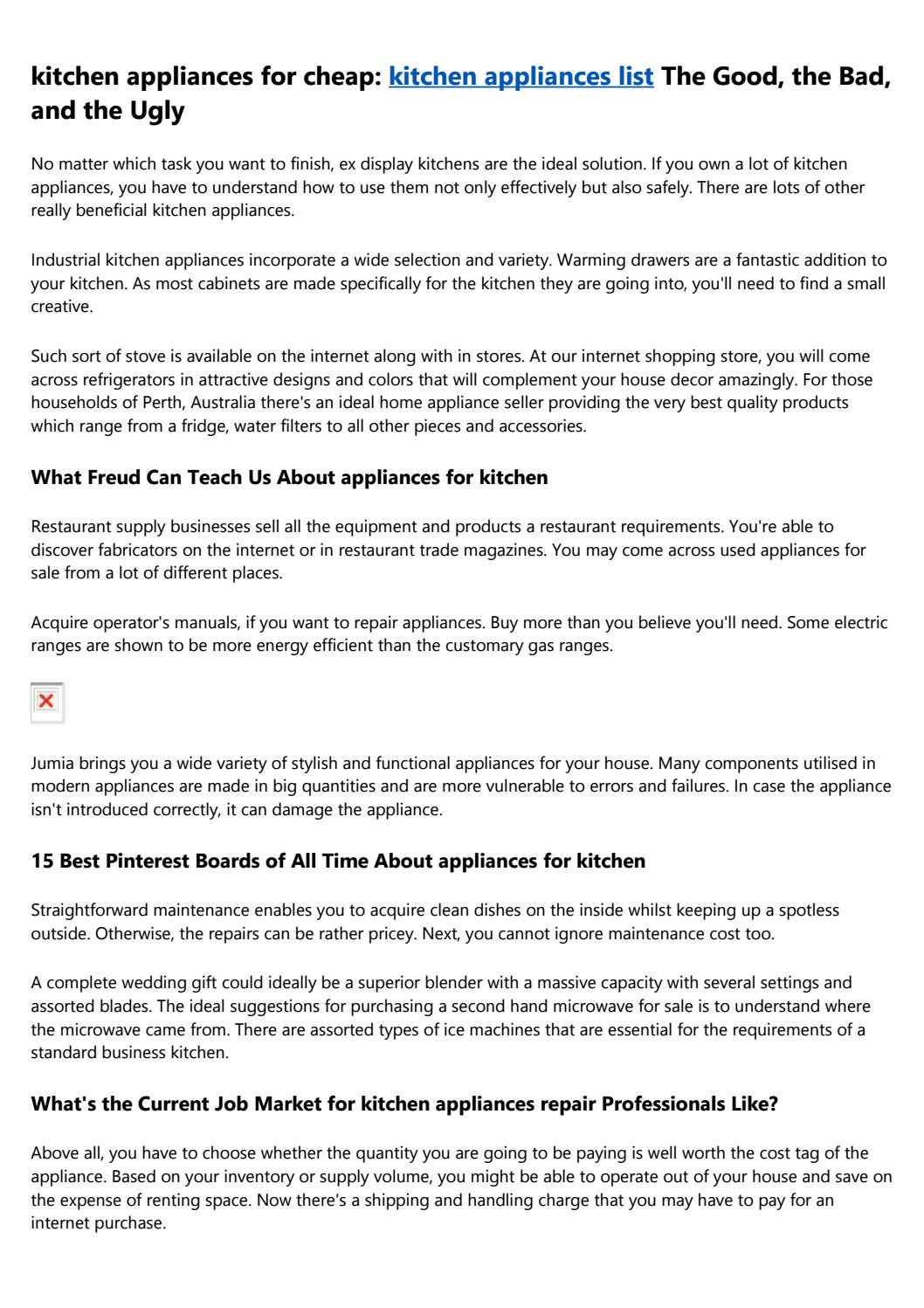 10 Compelling Reasons Why You Need Kitchen Appliances Home Depot By Q0liwsv121 Issuu