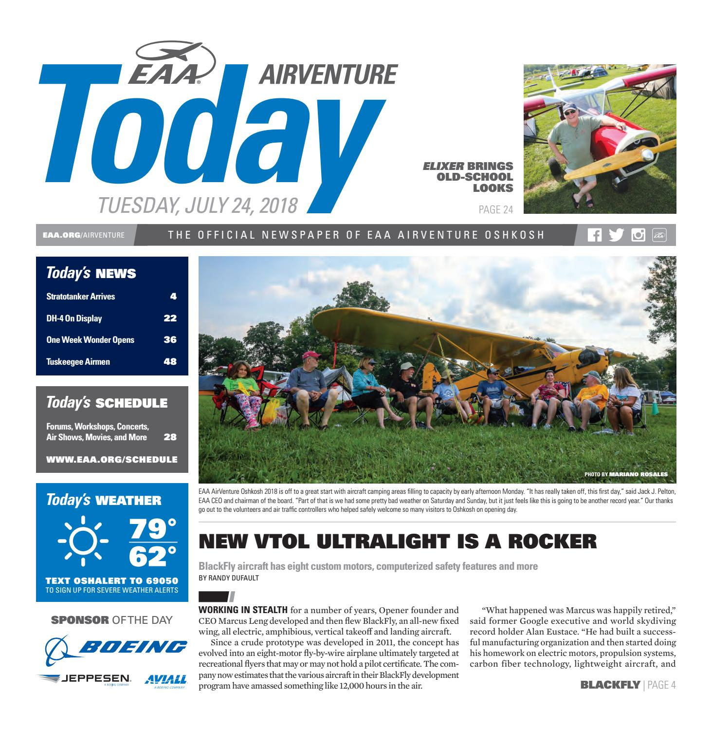 EAA AirVenture Today - Tuesday, July 24, 2018 by EAA