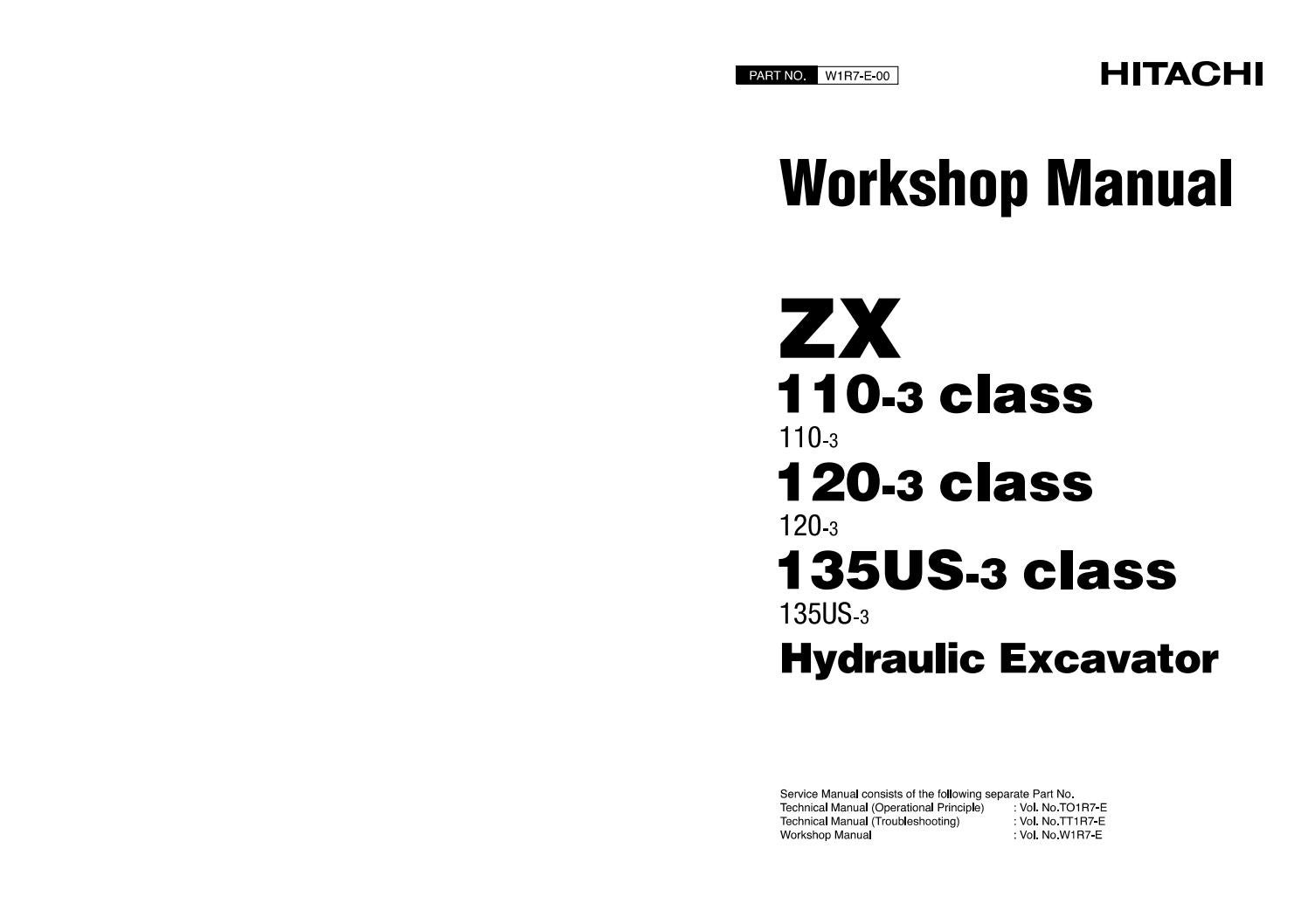 Hitachi Zaxis Zx 130k 3 Excavator Service Repair Manual By 163633 Issuu