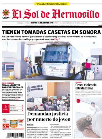 Edición impresa martes 24 de julio 2018 by El Sol de Hermosillo - issuu 3f1a38e578e