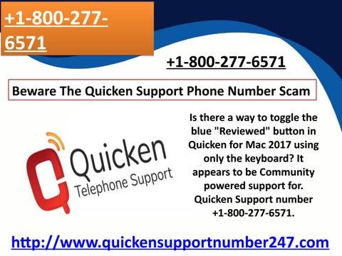 Beware The Quicken Support Phone Number Scam - +1-800-277