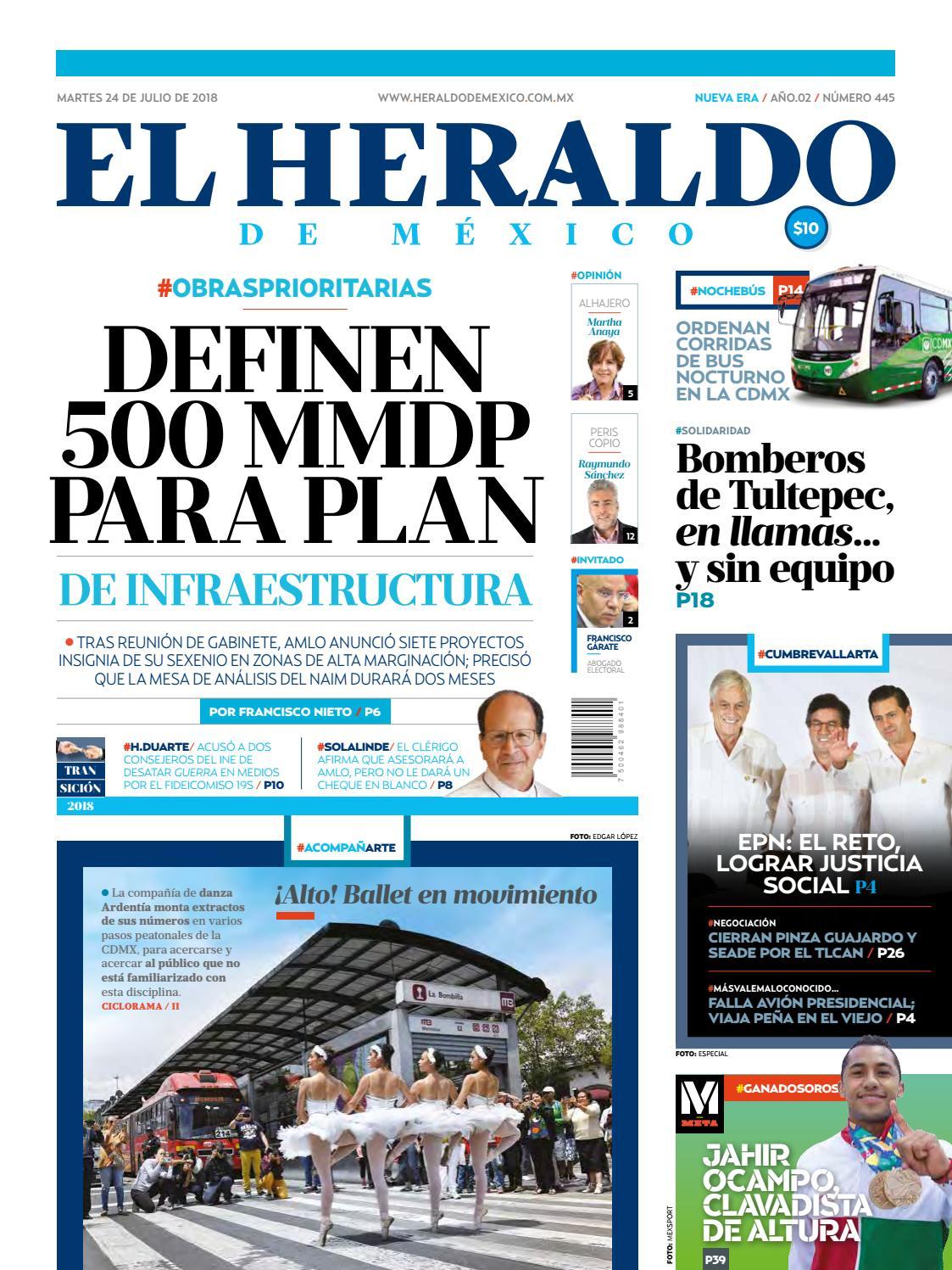24 de julio de 2018 by El Heraldo de México - issuu 6c908e8ff0ddb