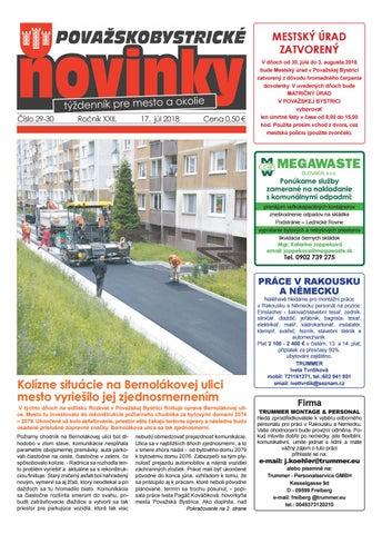 e4ea972f3a4cf Považskobystrické novinky č. 29-30/2018 by Považskobystrické novinky ...