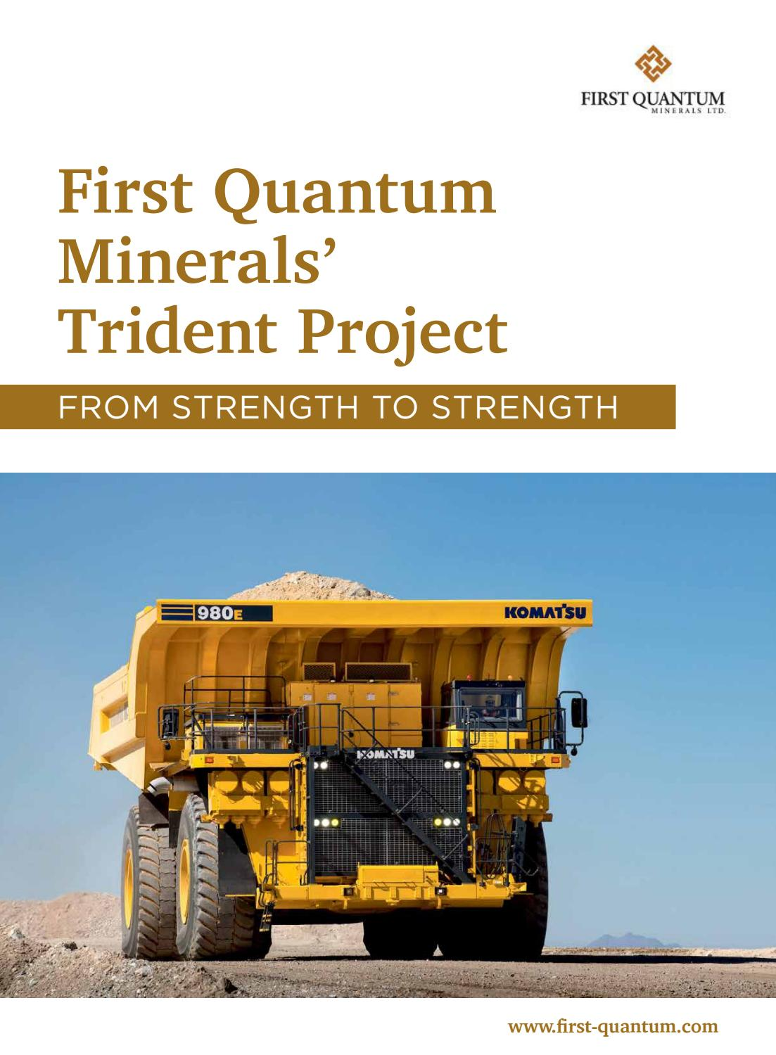 First Quantum Minerals' Trident Project by Business