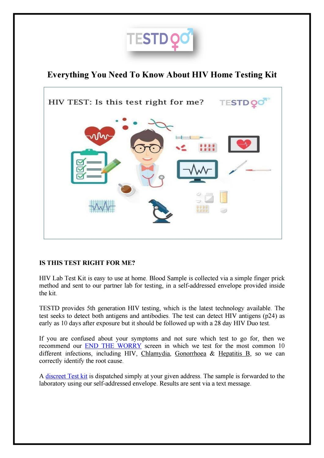 Everything You Need To Know About Hiv Home Testing Kit By