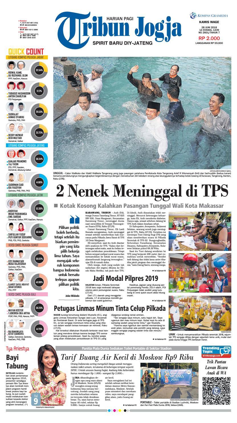 Tribunjogja Edisi 28 06 2018 By Tribun Jogja Issuu