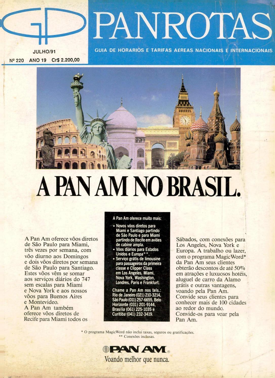 fec89bc2a Guia PANROTAS - Edição 220 - Julho/1991 by PANROTAS Editora - issuu