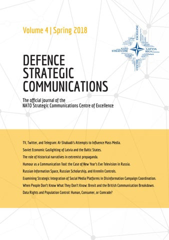 Academic Journal 'Defence Strategic Communications' Volume 4