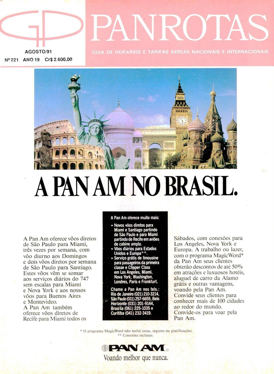 a5c25e6ad Guia PANROTAS - Edição 221 - Agosto/1991 by PANROTAS Editora - issuu