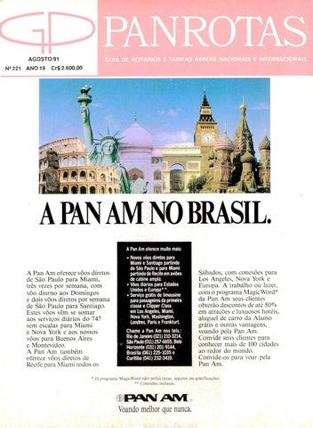 761a78671c8a2 Guia PANROTAS - Edição 221 - Agosto 1991 by PANROTAS Editora - issuu