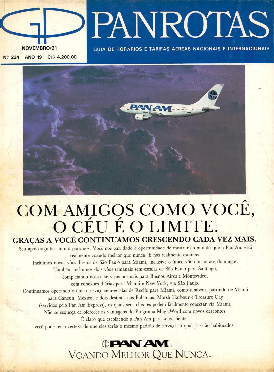 7b12b595305ab Guia PANROTAS - Edição 224 - Novembro 1991 by PANROTAS Editora - issuu