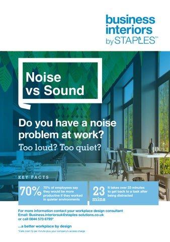 Do You Have A Noise Problem At Work? By Staples Advantage   Issuu