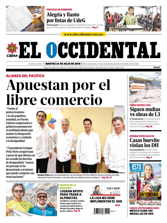 Edicion digital 24 de julio de 2018 by EL OCCIDENTAL - issuu