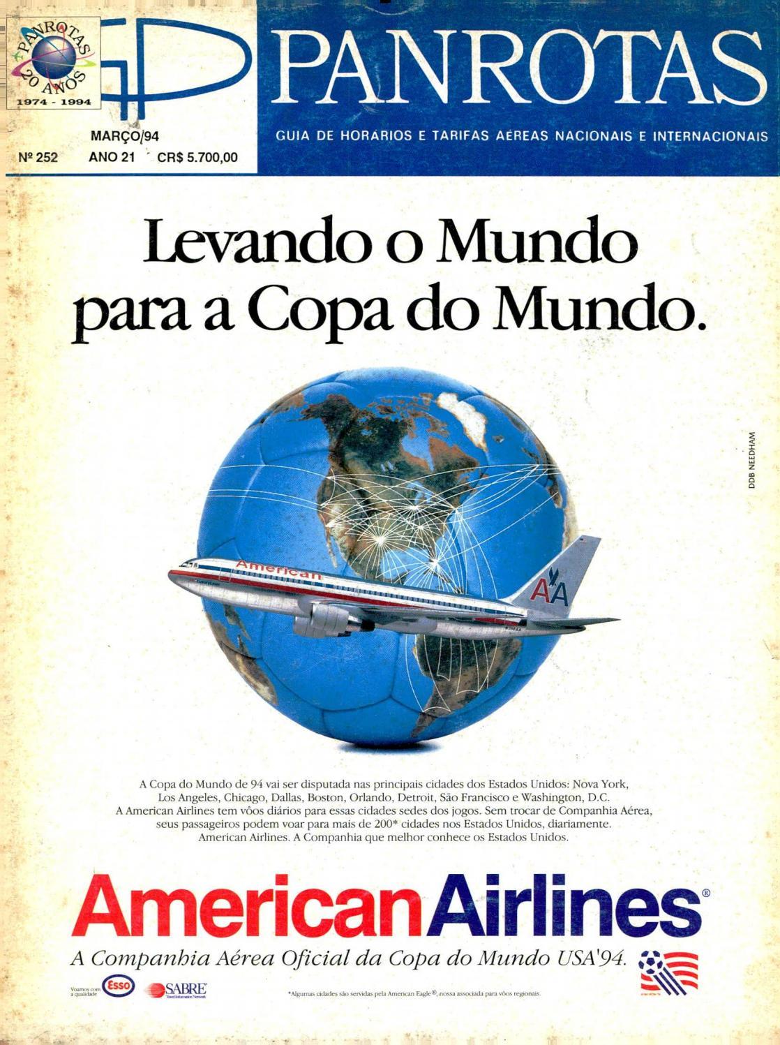 b31a8ca0dcd Guia PANROTAS - Edição 252 - Março 1994 by PANROTAS Editora - issuu