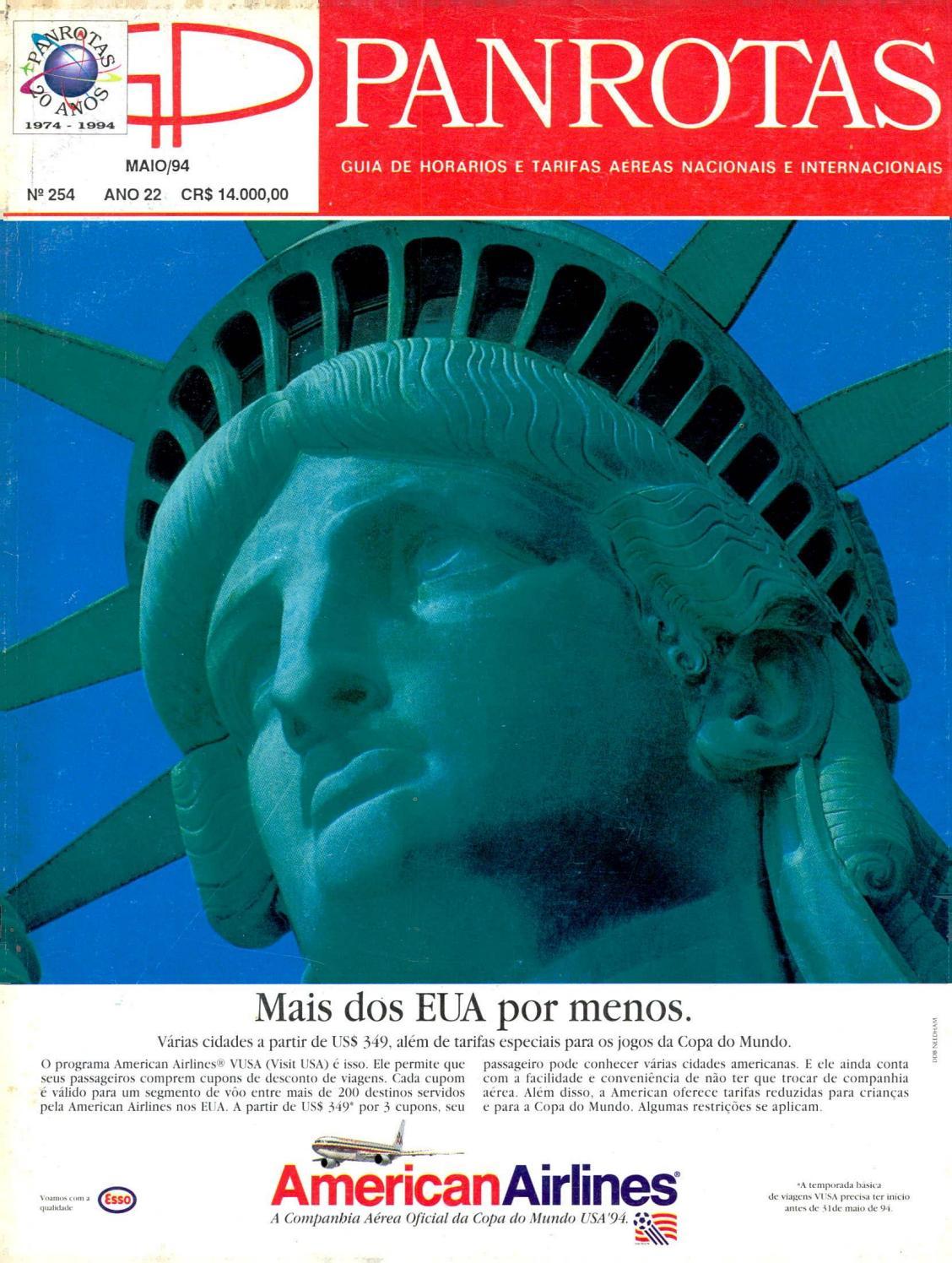 1890b76b7f Guia PANROTAS - Edição 254 - Maio 1994 by PANROTAS Editora - issuu