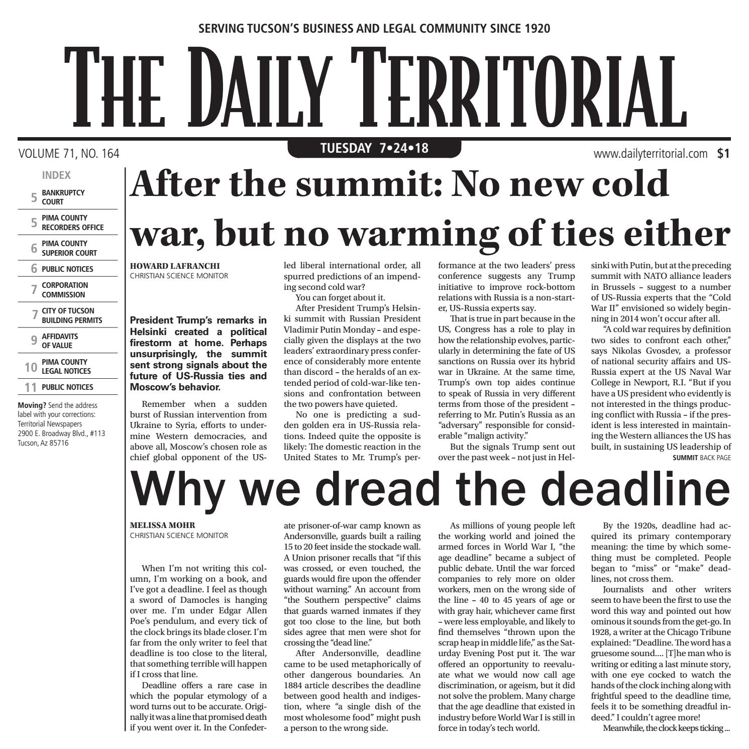 The Daily Territorial by Wick Communications - issuu