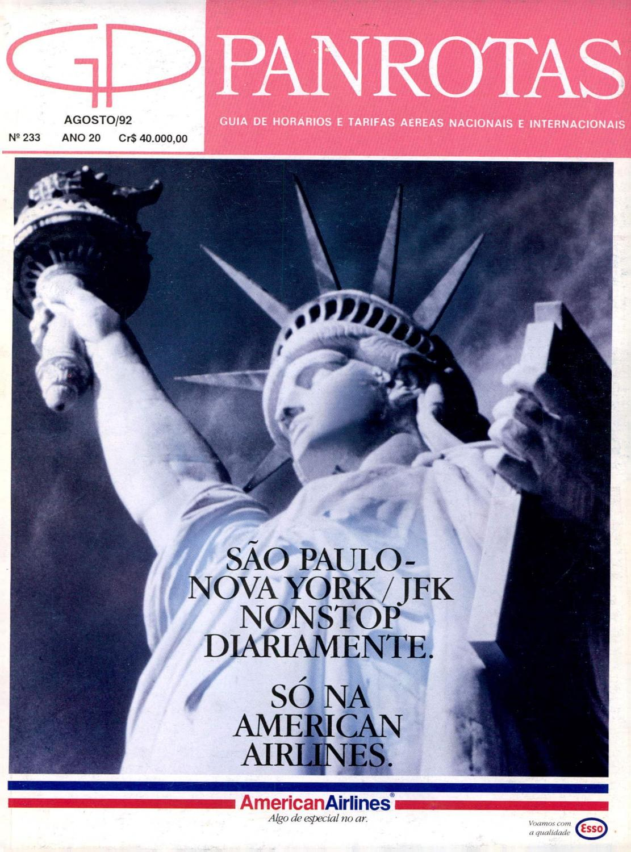 Guia PANROTAS - Edição 233 - Agosto 1992 by PANROTAS Editora - issuu a916eb2cf1faa