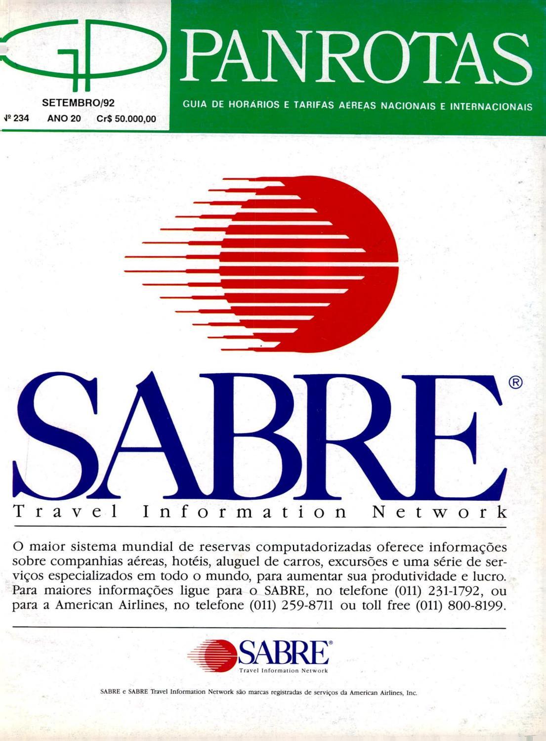 3fb1ae3e00a Guia PANROTAS - Edição 234 - Setembro 1992 by PANROTAS Editora - issuu