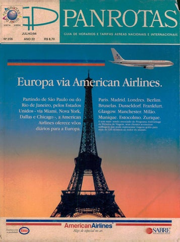 ec88161c83325 Guia PANROTAS - Edição 256 - Julho 1994 by PANROTAS Editora - issuu