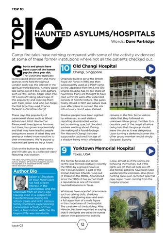 Page 12 of Top 10 Haunted Asylums & Hospitals