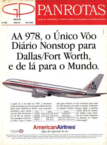 Guia PANROTAS - Edição 266 - Maio 1995 by PANROTAS Editora - issuu d9eb87f899b