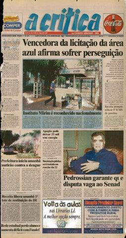 Jornal A Critica - Edição 1061 - 13 01 2002 by JORNAL A CRITICA - issuu 5b37e164295c0