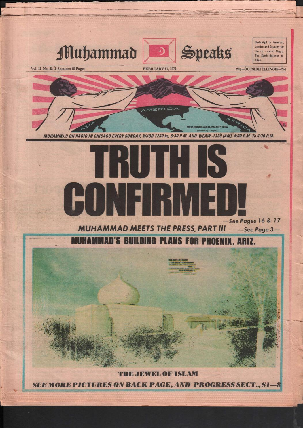 TRUTH IS CONFIRMED February 11 1972 By The Honorable