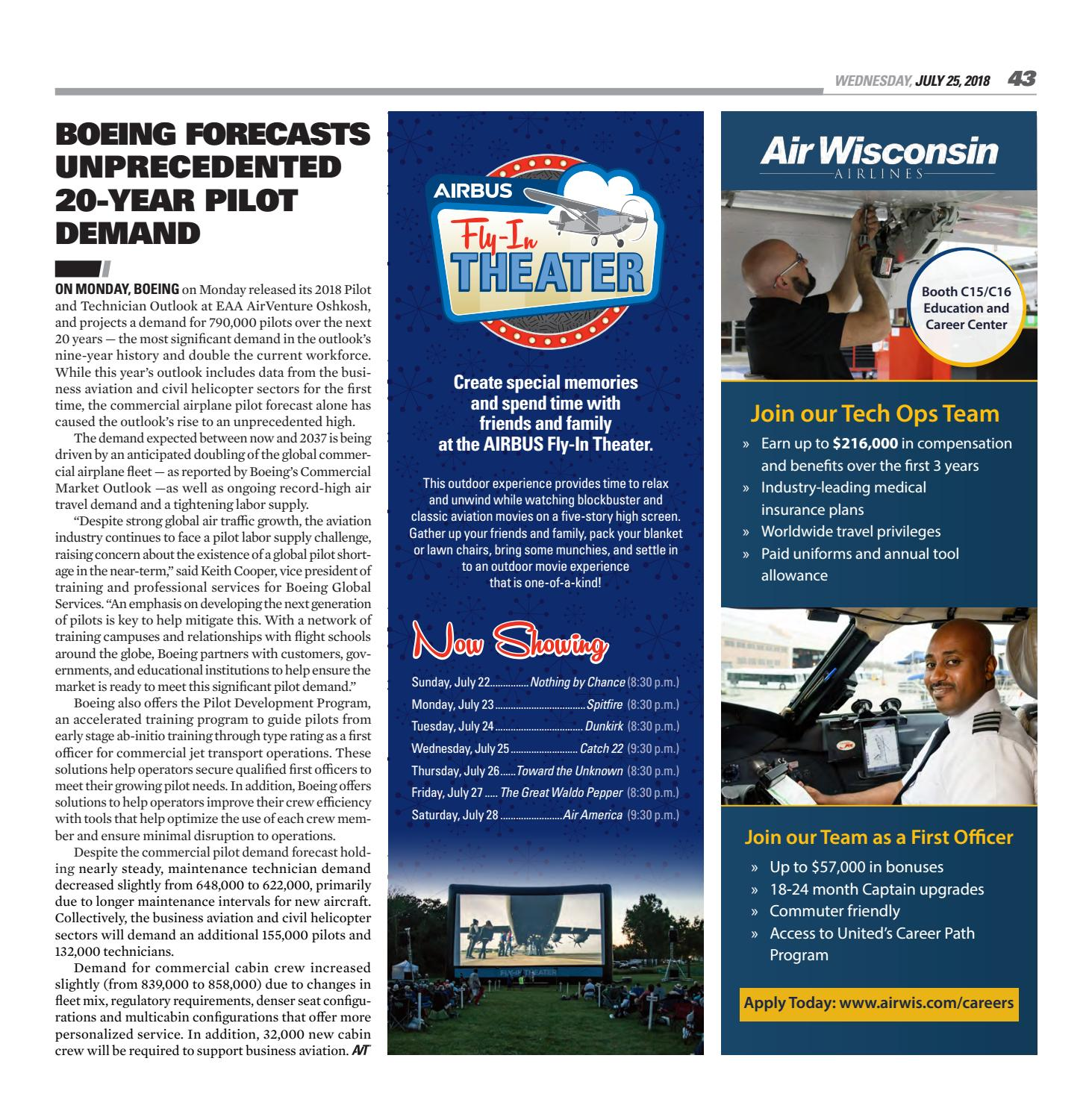 EAA AirVenture Today - Wednesday, July 25, 2018 by EAA