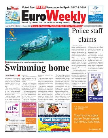 Euro Weekly News - Costa de Almeria 26 July - 1 August 2018