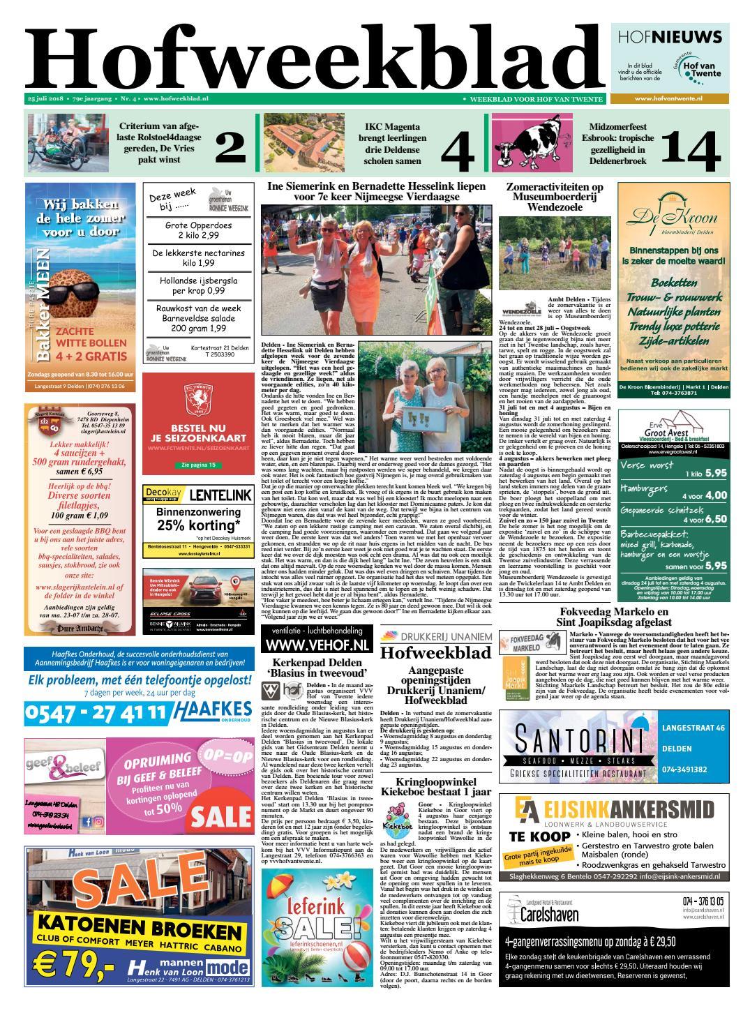 Hofweekblad week 30 2018 by Regionale Uitgeversgroep issuu