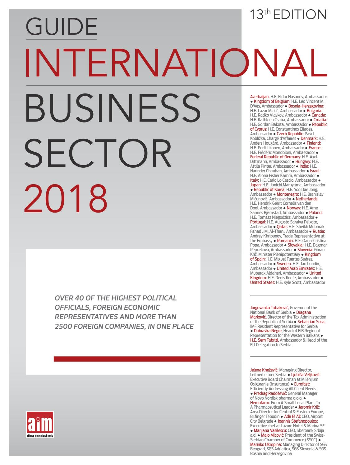 International Business Sector 2018 By Cord Magazine Issuu