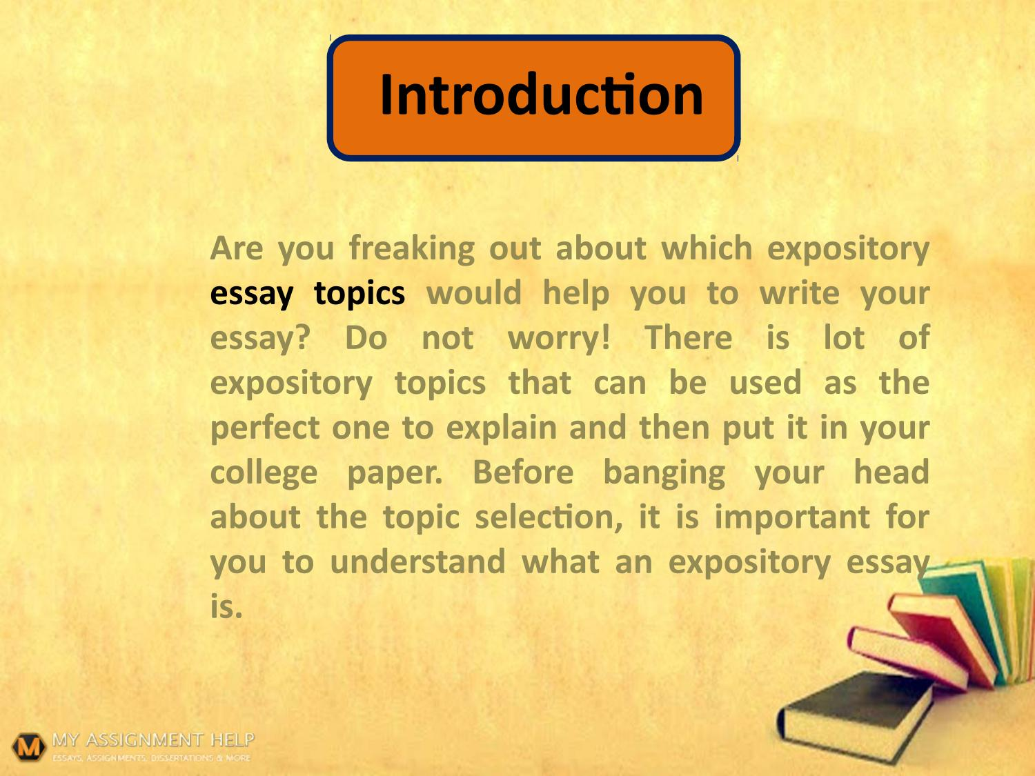 How to manage a difficult expository essay topic? by Levi Baxter - issuu