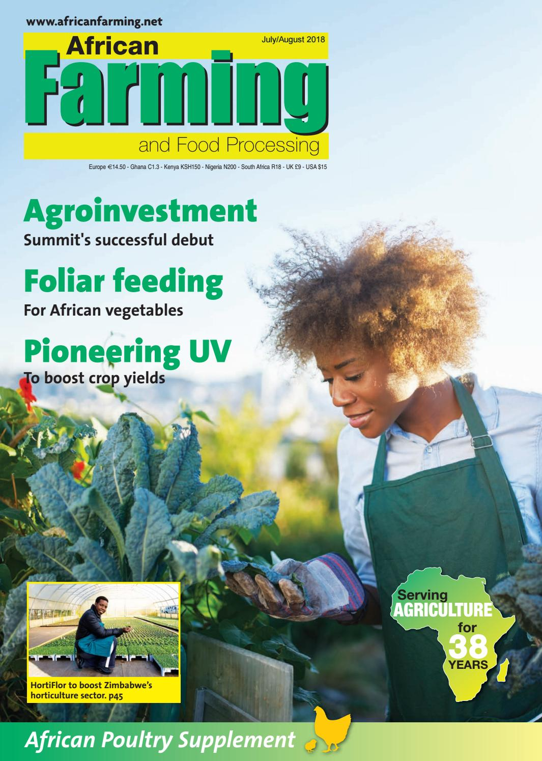 African Farming July August 2018 by Alain Charles Publishing