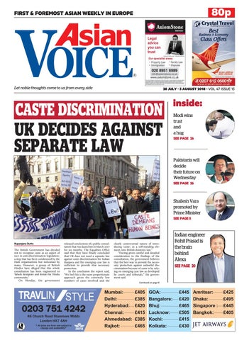 Asian Voice 28th July 2018 by Asian Business Publications